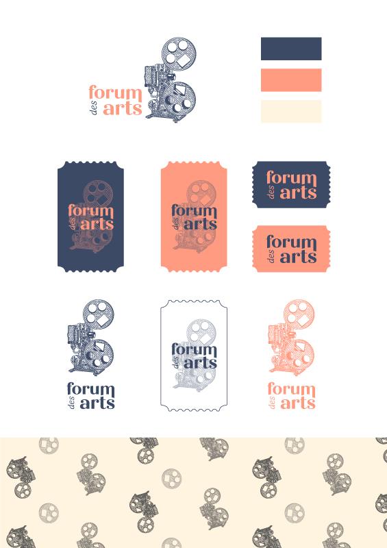 Brand board du Forum des Arts par Marine Dassac Design Studio