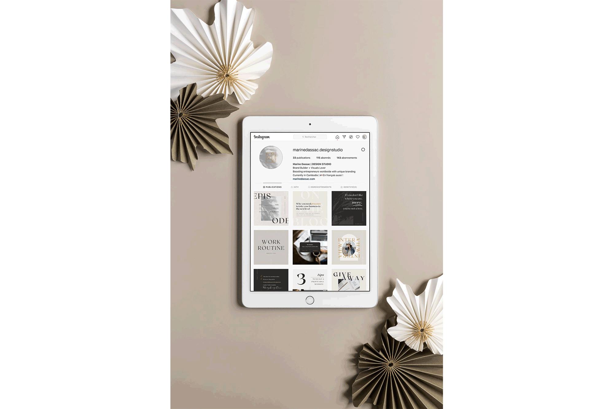 Templates Instagram stratégique à personnaliser